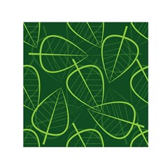 Vector Seamless Green Leaf Pattern Small Satin Scarf (square) by Simbadda