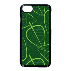 Vector Seamless Green Leaf Pattern Apple Iphone 7 Seamless Case (black) by Simbadda