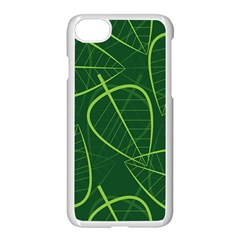 Vector Seamless Green Leaf Pattern Apple Iphone 7 Seamless Case (white) by Simbadda
