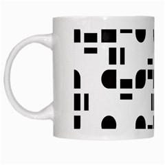 Black And White Pattern White Mugs