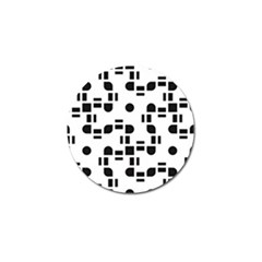 Black And White Pattern Golf Ball Marker (4 Pack) by Simbadda