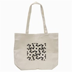 Black And White Pattern Tote Bag (cream) by Simbadda