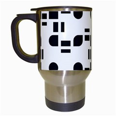Black And White Pattern Travel Mugs (white) by Simbadda