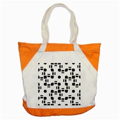 Black And White Pattern Accent Tote Bag by Simbadda