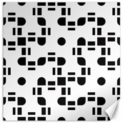 Black And White Pattern Canvas 16  X 16   by Simbadda