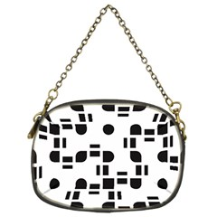 Black And White Pattern Chain Purses (two Sides)  by Simbadda