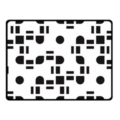 Black And White Pattern Fleece Blanket (small) by Simbadda