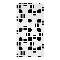Black And White Pattern Shower Curtain 36  X 72  (stall)  by Simbadda