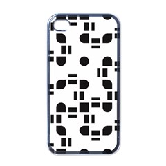 Black And White Pattern Apple Iphone 4 Case (black) by Simbadda