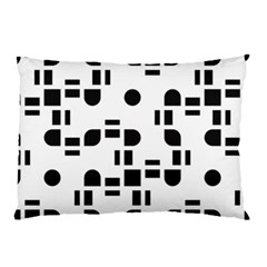 Black And White Pattern Pillow Case (two Sides) by Simbadda