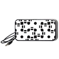 Black And White Pattern Portable Speaker (black) by Simbadda