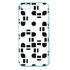 Black And White Pattern Apple Seamless Iphone 5 Case (color) by Simbadda