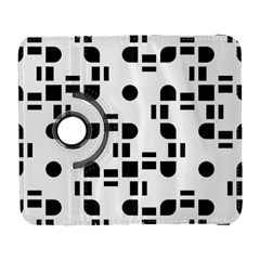 Black And White Pattern Galaxy S3 (flip/folio) by Simbadda