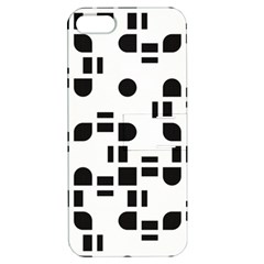 Black And White Pattern Apple Iphone 5 Hardshell Case With Stand by Simbadda