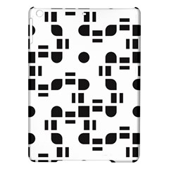 Black And White Pattern Ipad Air Hardshell Cases by Simbadda