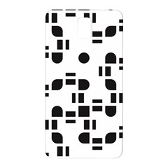 Black And White Pattern Samsung Galaxy Note 3 N9005 Hardshell Back Case by Simbadda