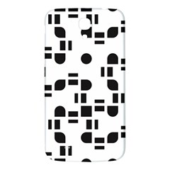 Black And White Pattern Samsung Galaxy Mega I9200 Hardshell Back Case by Simbadda