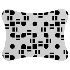 Black And White Pattern Jigsaw Puzzle Photo Stand (bow) by Simbadda