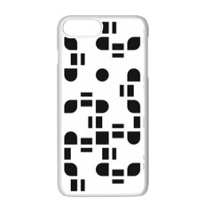 Black And White Pattern Apple Iphone 7 Plus White Seamless Case