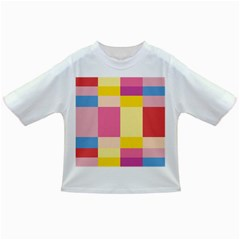 Colorful Squares Background Infant/toddler T Shirts