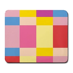 Colorful Squares Background Large Mousepads by Simbadda