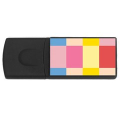 Colorful Squares Background Usb Flash Drive Rectangular (4 Gb) by Simbadda