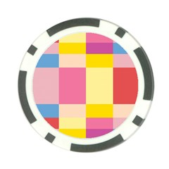 Colorful Squares Background Poker Chip Card Guard by Simbadda