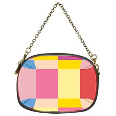 Colorful Squares Background Chain Purses (one Side)