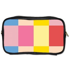 Colorful Squares Background Toiletries Bags 2 Side