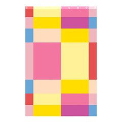 Colorful Squares Background Shower Curtain 48  X 72  (small)  by Simbadda