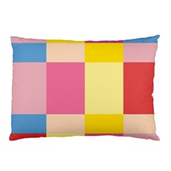 Colorful Squares Background Pillow Case (two Sides) by Simbadda