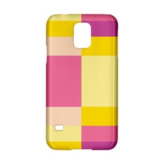 Colorful Squares Background Samsung Galaxy S5 Hardshell Case  by Simbadda