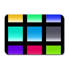 Colorful Background Squares Plate Mats by Simbadda