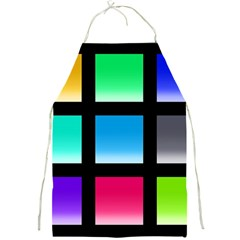 Colorful Background Squares Full Print Aprons by Simbadda