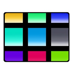 Colorful Background Squares Fleece Blanket (small) by Simbadda