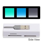 Colorful Background Squares Memory Card Reader (Stick)  Front