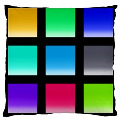 Colorful Background Squares Large Cushion Case (two Sides) by Simbadda