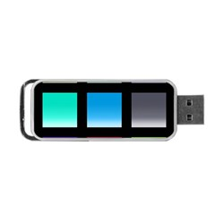 Colorful Background Squares Portable Usb Flash (two Sides) by Simbadda