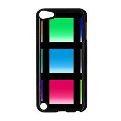 Colorful Background Squares Apple Ipod Touch 5 Case (black) by Simbadda