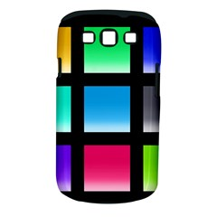 Colorful Background Squares Samsung Galaxy S Iii Classic Hardshell Case (pc+silicone) by Simbadda
