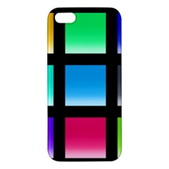 Colorful Background Squares Apple Iphone 5 Premium Hardshell Case