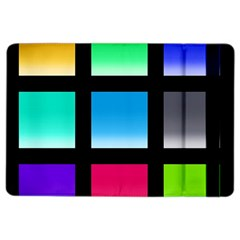 Colorful Background Squares Ipad Air 2 Flip by Simbadda