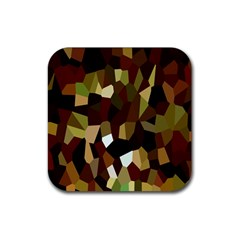 Crystallize Background Rubber Coaster (square)  by Simbadda