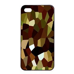 Crystallize Background Apple Iphone 4/4s Seamless Case (black) by Simbadda