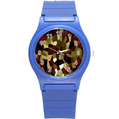 Crystallize Background Round Plastic Sport Watch (s) by Simbadda