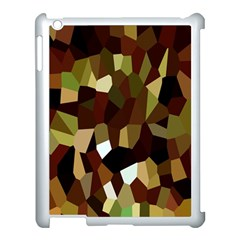 Crystallize Background Apple Ipad 3/4 Case (white) by Simbadda