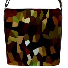 Crystallize Background Flap Messenger Bag (s) by Simbadda