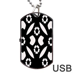 Abstract Background Pattern Dog Tag Usb Flash (two Sides) by Simbadda