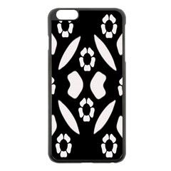 Abstract Background Pattern Apple Iphone 6 Plus/6s Plus Black Enamel Case