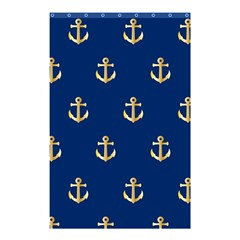 Gold Anchors On Blue Background Pattern Shower Curtain 48  X 72  (small)